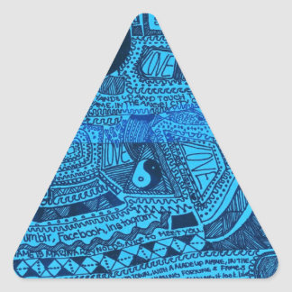 Marina Designs Good Karma Triangle Sticker