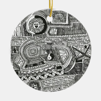 Marina Designs Double-Sided Ceramic Round Christmas Ornament