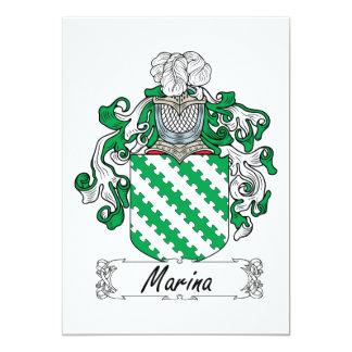 """Marina Family Crest 5"""" X 7"""" Invitation Card"""