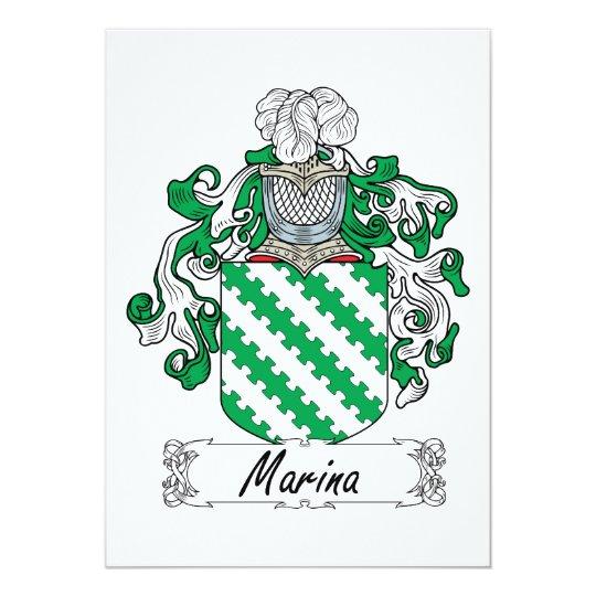 Marina Family Crest Card