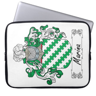 Marina Family Crest Laptop Sleeves