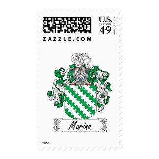 Marina Family Crest Postage