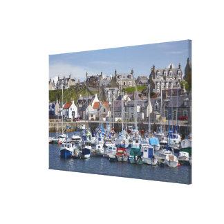 Marina, Findochty, Moray, Scotland, United Stretched Canvas Prints