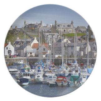 Marina, Findochty, Moray, Scotland, United Dinner Plate