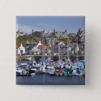 Marina, Findochty, Moray, Scotland, United Pinback Button