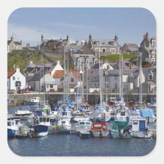 Marina, Findochty, Moray, Scotland, United Square Sticker