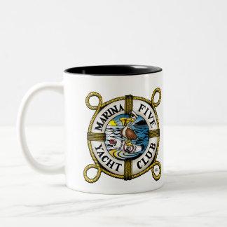 Marina Five Yacht Club Two-Tone Coffee Mug