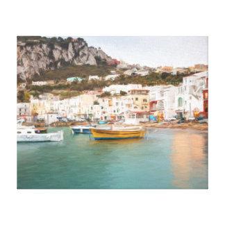 Marina Grande, Capri, Campania, Italy Canvas Print