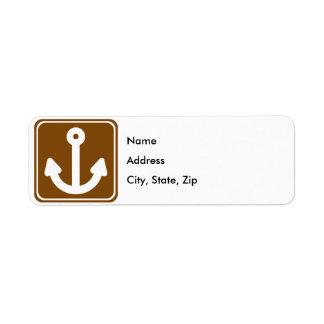 Marina Highway Sign Label