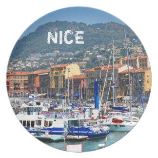 Marina in Nice, France Dinner Plate