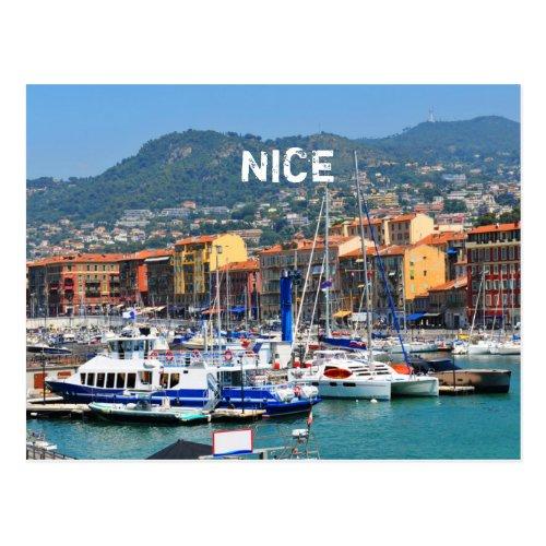 Marina in Nice France Postcard