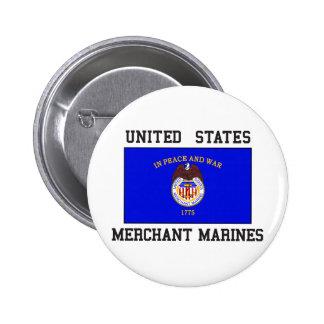Marina mercante de los E.E.U.U. Pin Redondo De 2 Pulgadas