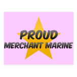 Marina mercante orgullosa postal