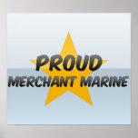 Marina mercante orgullosa poster