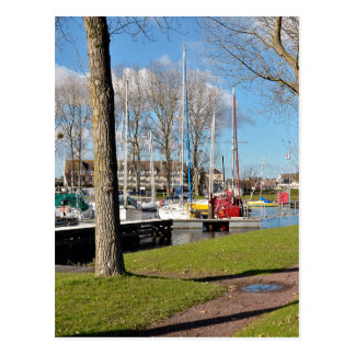 Marina of Ouistreham in France Postcard