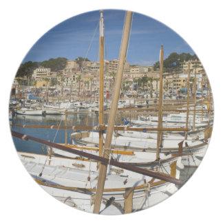 Marina, Port de Soller, West coast, Mallorca, Melamine Plate