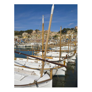 Marina, Port de Soller, West coast, Mallorca, Postcard