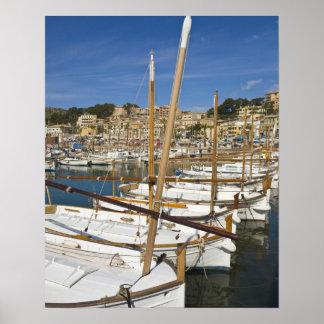 Marina, Port de Soller, West coast, Mallorca, Poster