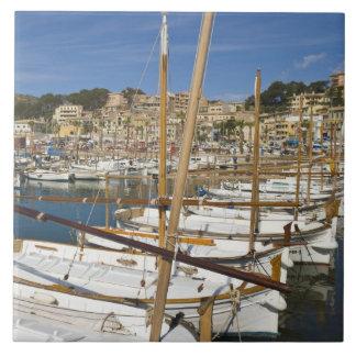 Marina, Port de Soller, West coast, Mallorca, Tile