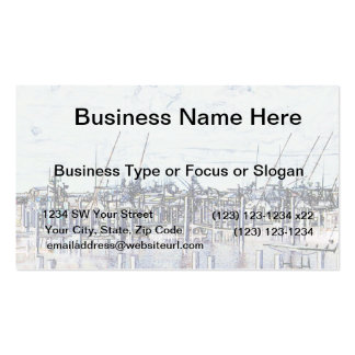 Marina Solarized Invert Boat Photograph Business Card Template