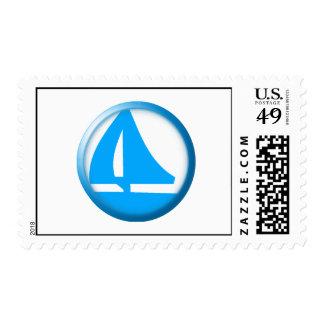 Marina Symbol - Sailboat Stamps