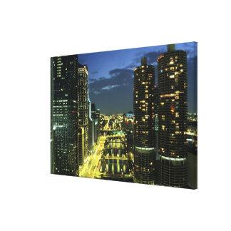 Marina Towers, Chicago River, Wacker Drive, Canvas Print