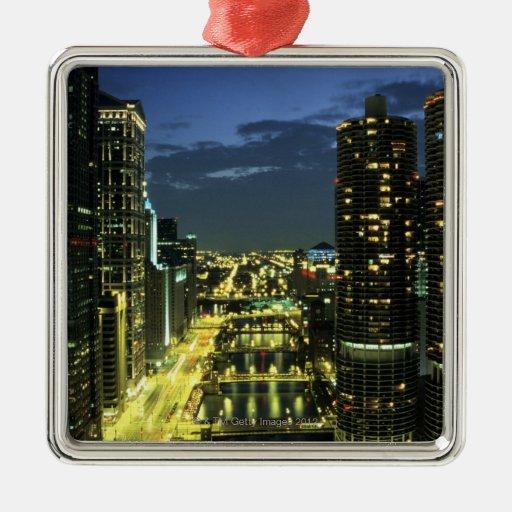Marina Towers, Chicago River, Wacker Drive, Christmas Ornaments