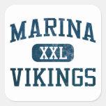 Marina Vikings Athletics Square Sticker