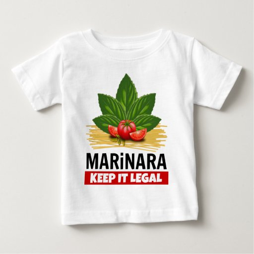 Marinara Keep it Legal Basil Tomatoes Spaghetti Baby Jersey T-Shirt Legalize Marinara