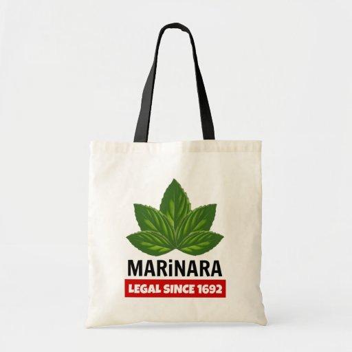 Marinara Legal Since 1692 Basil Leaves Tote Bag Legalize Marinara
