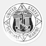Marinas mercantes de los E.E.U.U. cerca: David Lee Pegatina Redonda