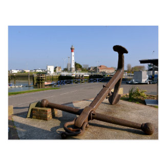 Marine anchor at Ouistreham in France Postcard