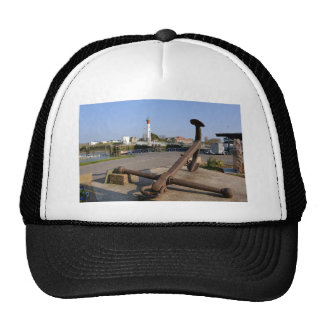 Marine anchor at Ouistreham in France Trucker Hat