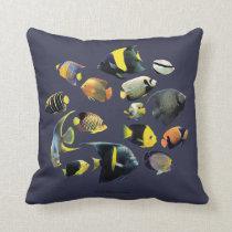 Marine Angelfish Throw Pillow
