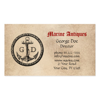 Marine Antiques with Monogram Double-Sided Standard Business Cards (Pack Of 100)