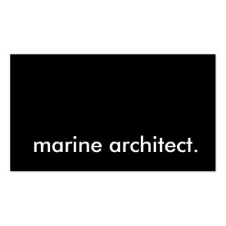 marine architect business card templates