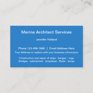 Marine Architect Services Business Card