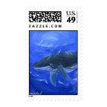 Marine art whale Postage