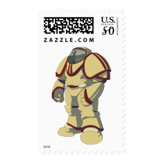 Marine Astronaut Power Space Suit Stamp