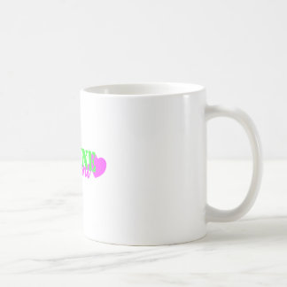 Marine Aunt Lime Green Heart Coffee Mug