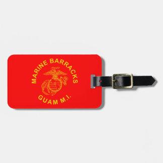 Marine Barracks Guam Logo Travel Bag Tag