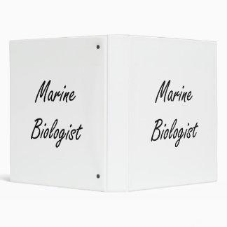 Marine Biologist Artistic Job Design 3 Ring Binder