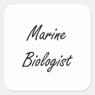 Marine Biologist Artistic Job Design Square Sticker