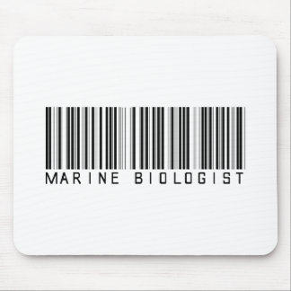 Marine Biologist Bar Code Mouse Pad
