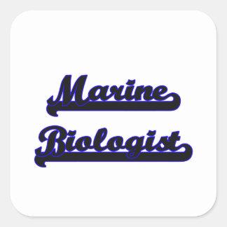 Marine Biologist Classic Job Design Square Sticker