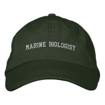 Marine Biologist Embroidered Baseball Cap