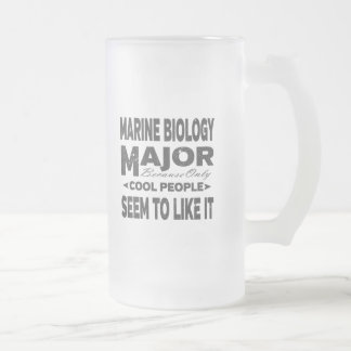 Marine Biology College Major Cool People Frosted Glass Beer Mug