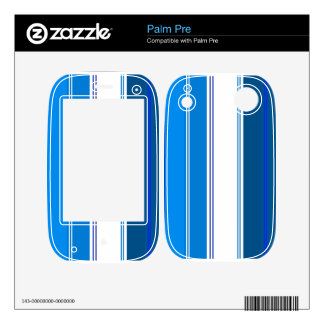 Marine blue and white stripes decals for the palm pre