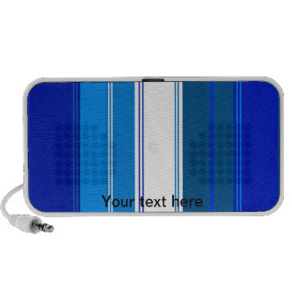 Marine blue and white stripes notebook speakers