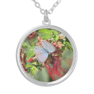 Marine Blue Butterfly Necklace